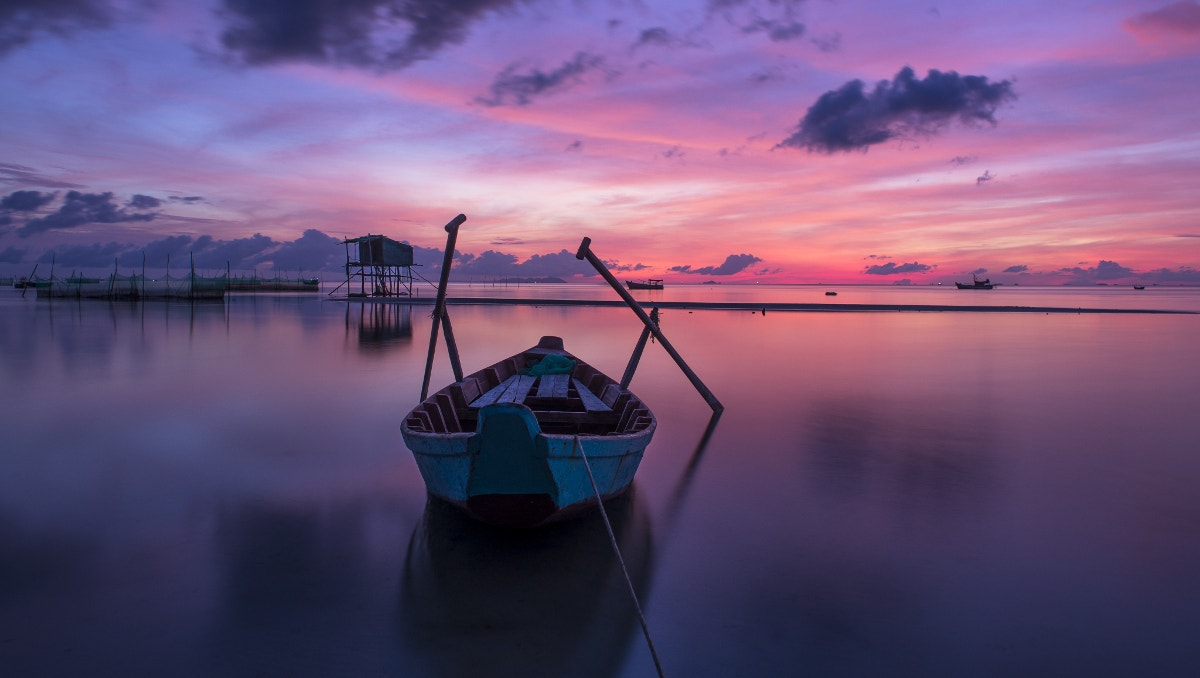sea landscape boat photography