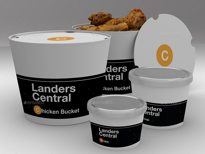Take Out Packaging Mock Up Design
