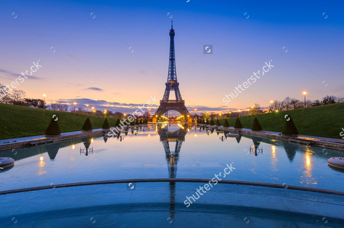 Eiffel Tower at Sunrise