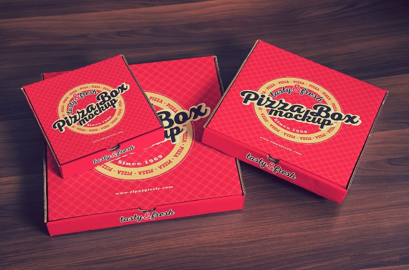 15 Yummy Pizza Box Mockup Designs