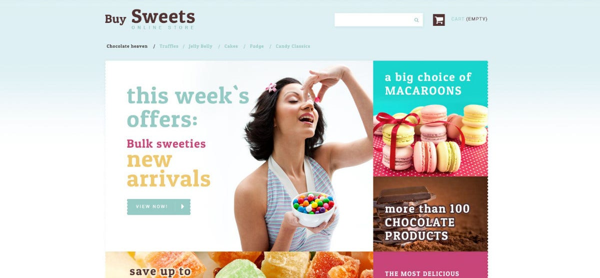 sweet store php theme