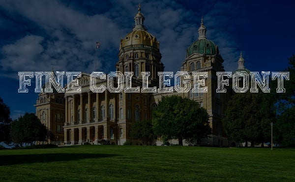 Fine College Font