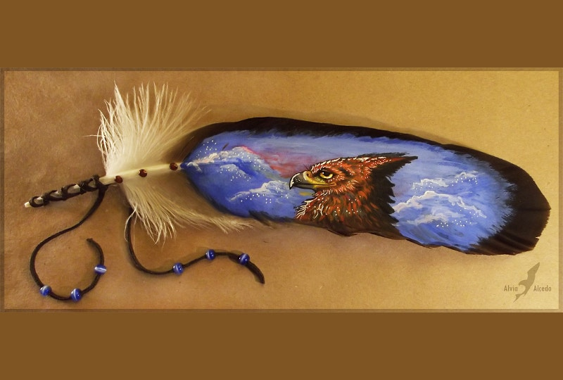 Awesome Feather Painting