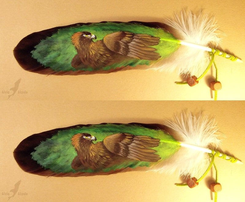 Eagle Painting on Eagle Feather