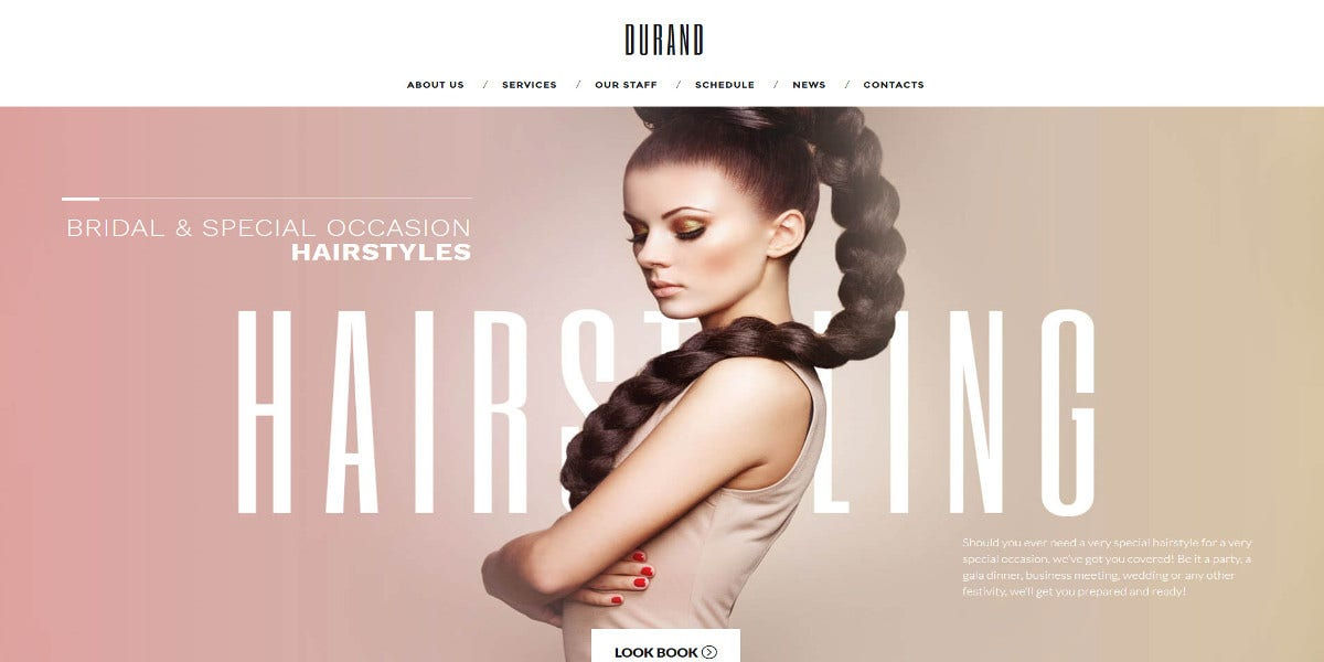 beauty hair salon wordpress theme for women