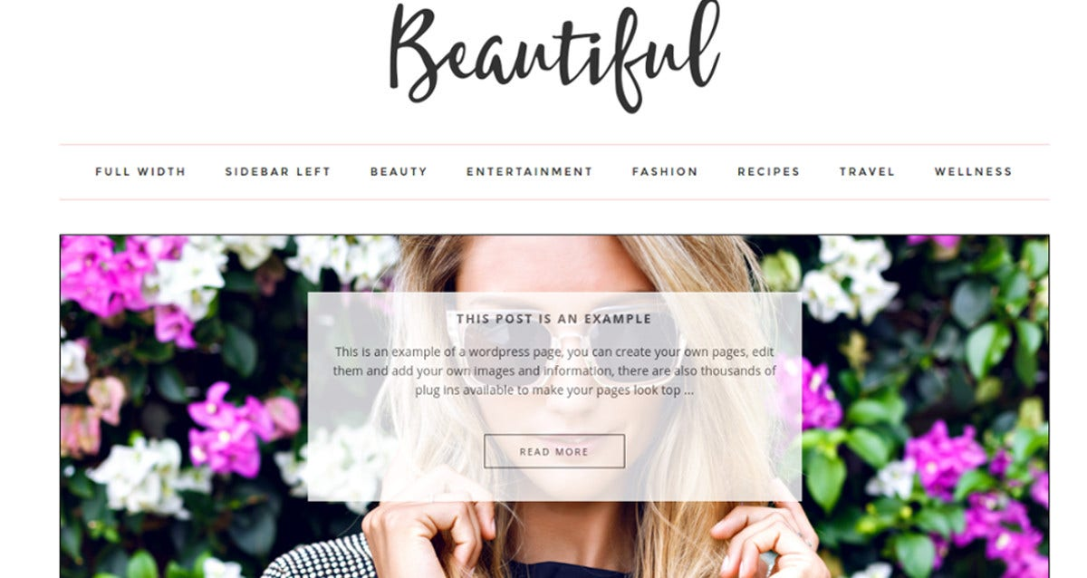 beautiful photo wordpress theme