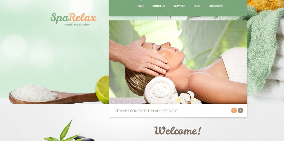beautiful spa salon wordpress theme