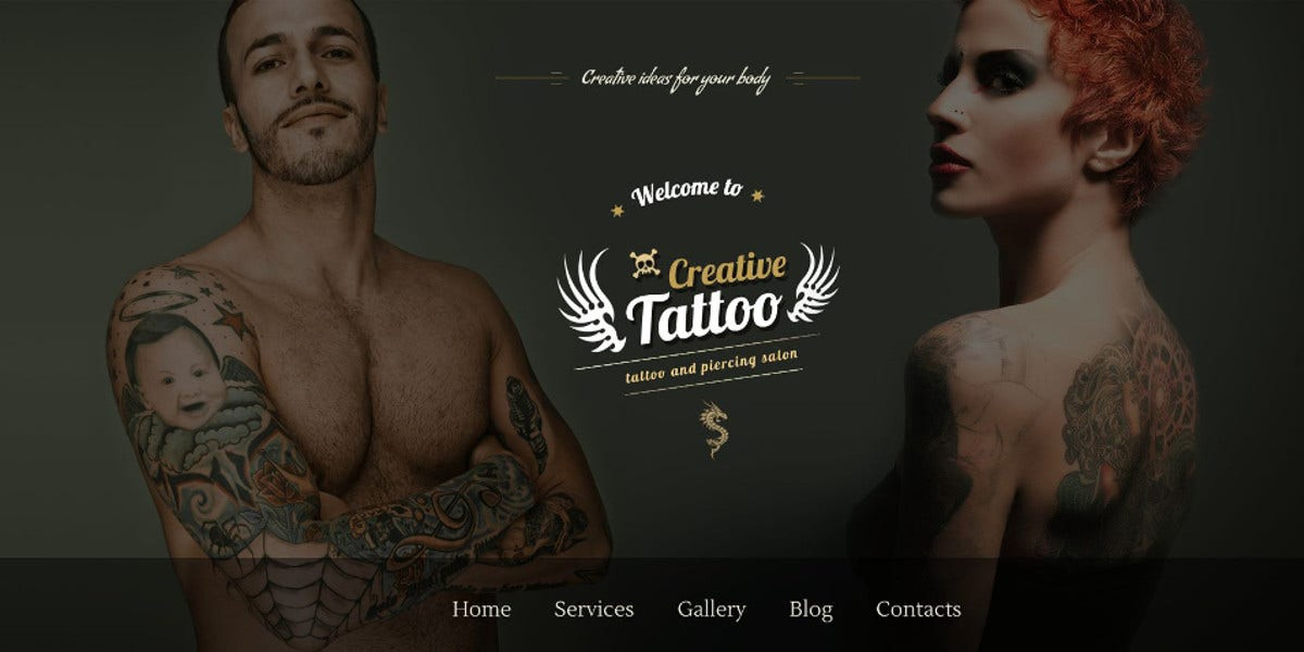 creative tattoo store wordpress theme1