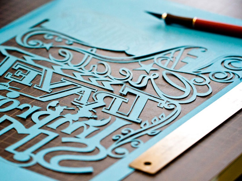 paper cut art of alphabets