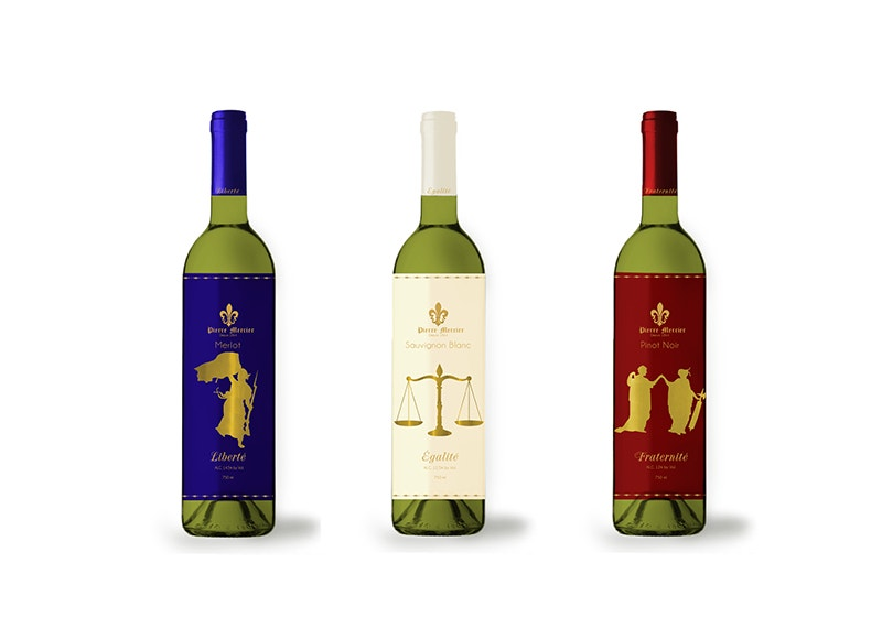 Label Design for Wine Bottles Mockup