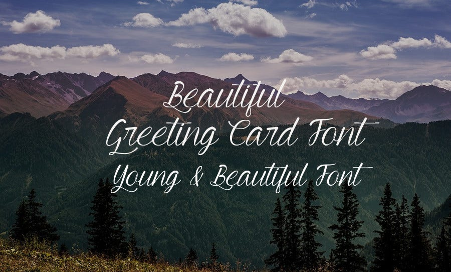 Beautiful Greeting Card Font Download