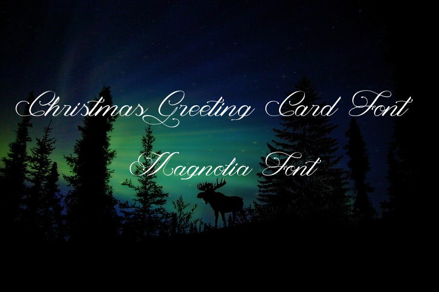 christmas greeting card font free download