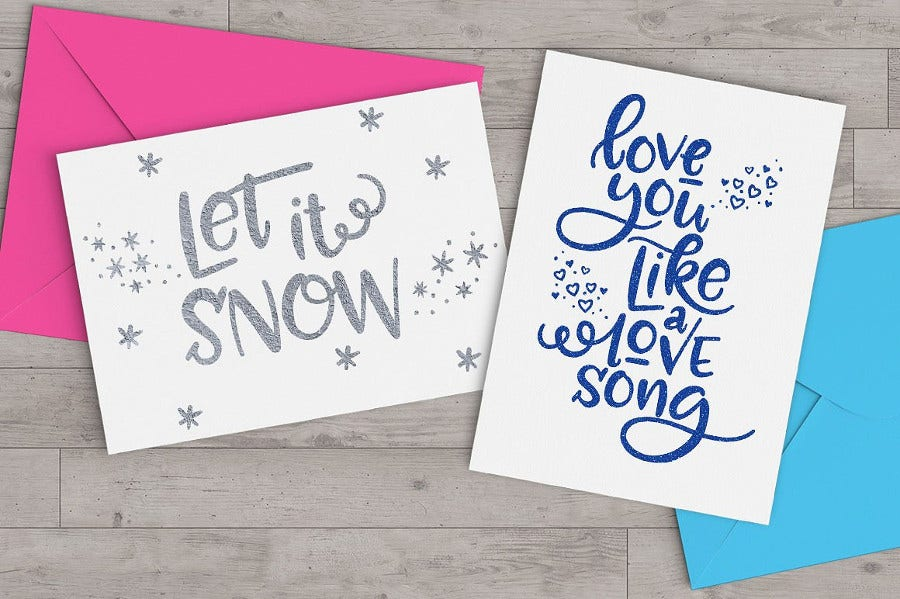 Greeting Card Lettering Font for Special Events