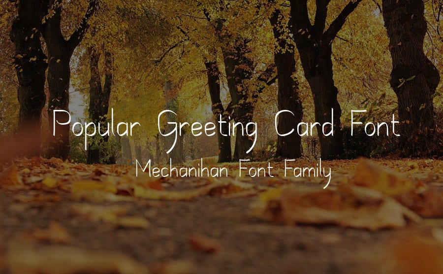 Popular Greeting Card Font