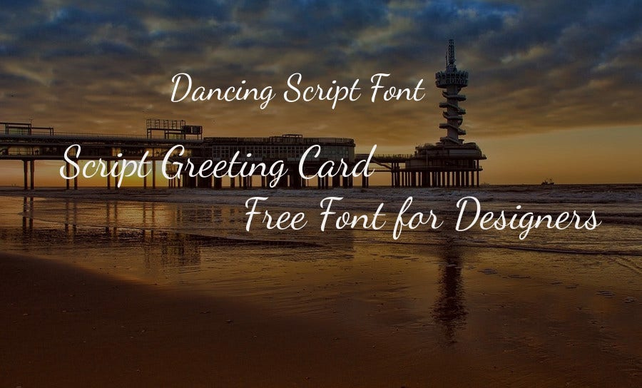 Script Greeting Card Free Font for Designers