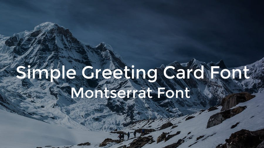 Simple Greeting Card Font