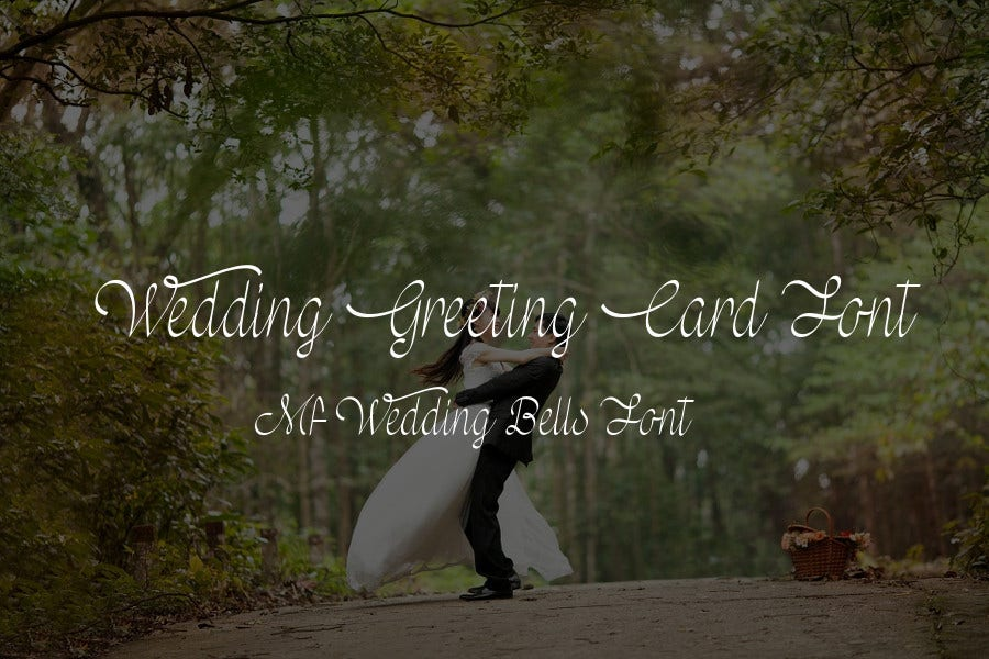 Wedding Greeting Card Font