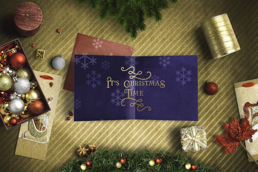 Beautiful Font for Christmas Greeting & Gift Cards