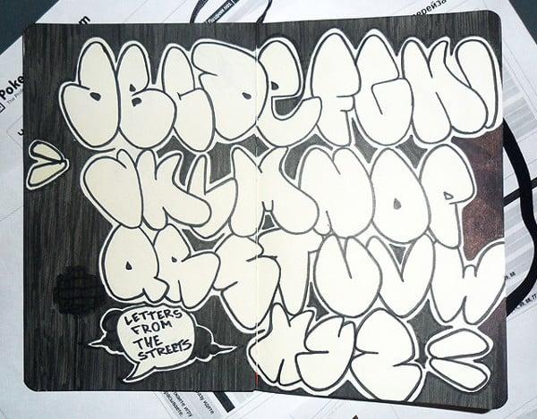 Graffit alphabet letter