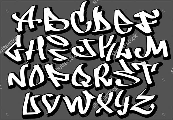 hip hop graffiti alphabet letters
