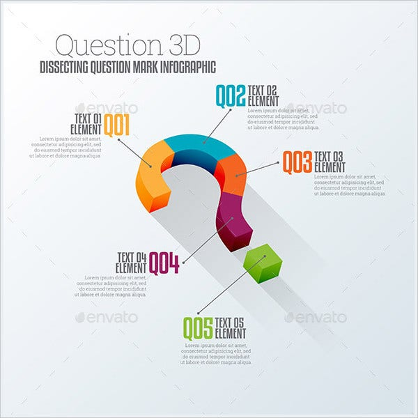 3D Question Based Infographic Design