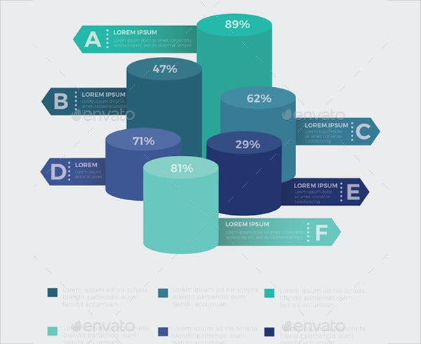 A4 Size 3D Infographic Elements Template