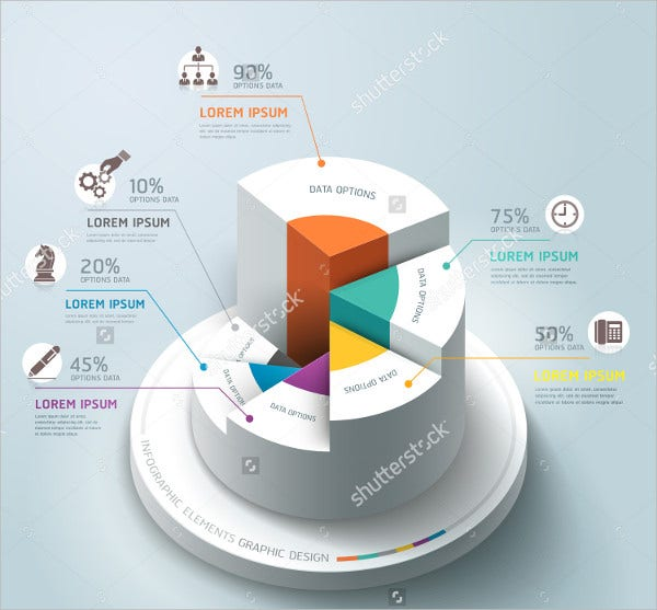 circle graph Vector 3D Business Infographic