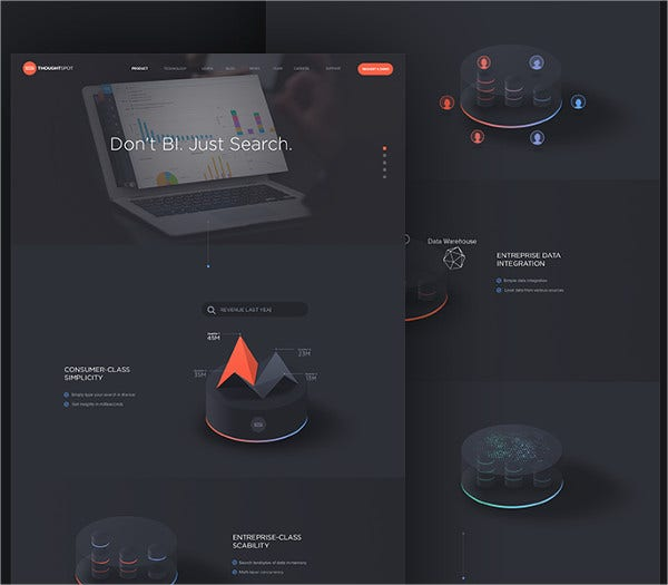 Product Page animated 3D infographic