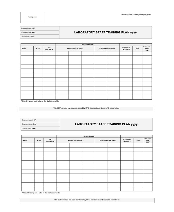 Training plan 13 free pdf word documents download for Training calendars templates