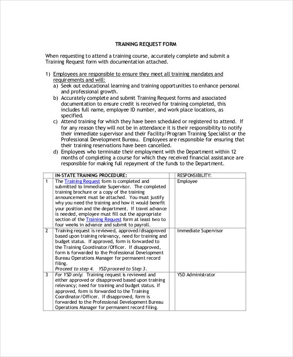 Individual Employee Training Plan Template