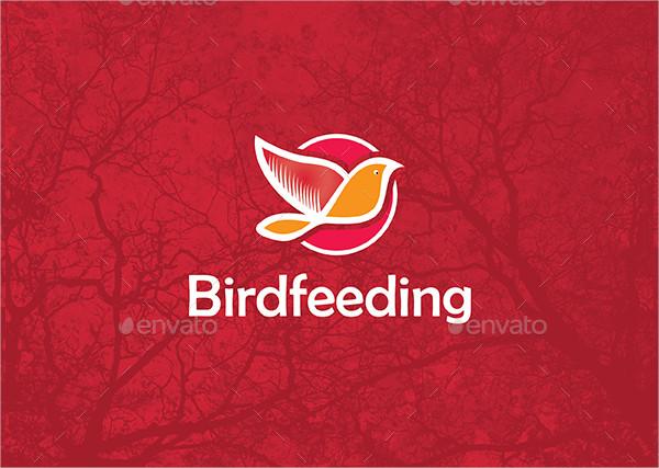 birdfeeding station logo design