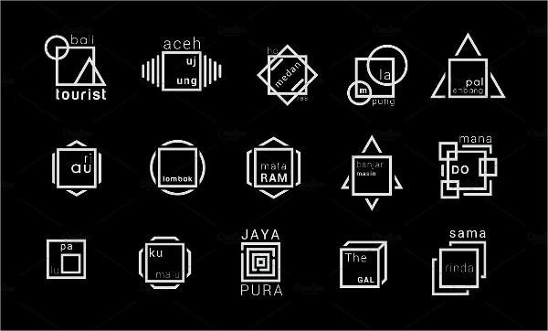 minimal square logo