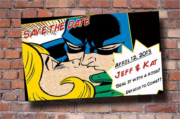 superhero wedding comic book template