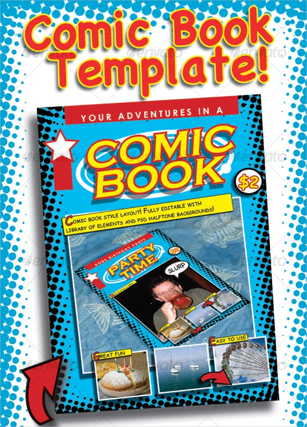 adventure comic book template