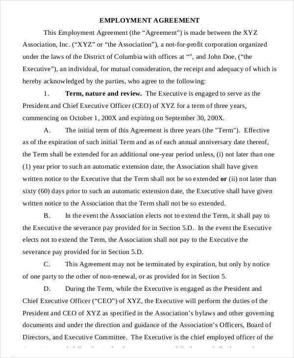 CEO Employment Agreement Template