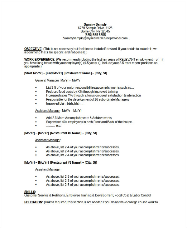 sample-restaurant-general-manager-resume-download