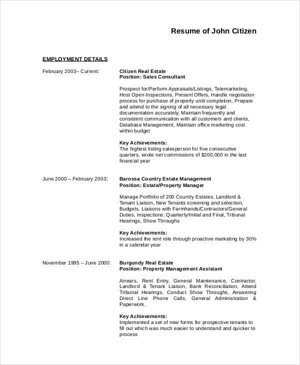 Download Professional Assistant Property Manager Resume