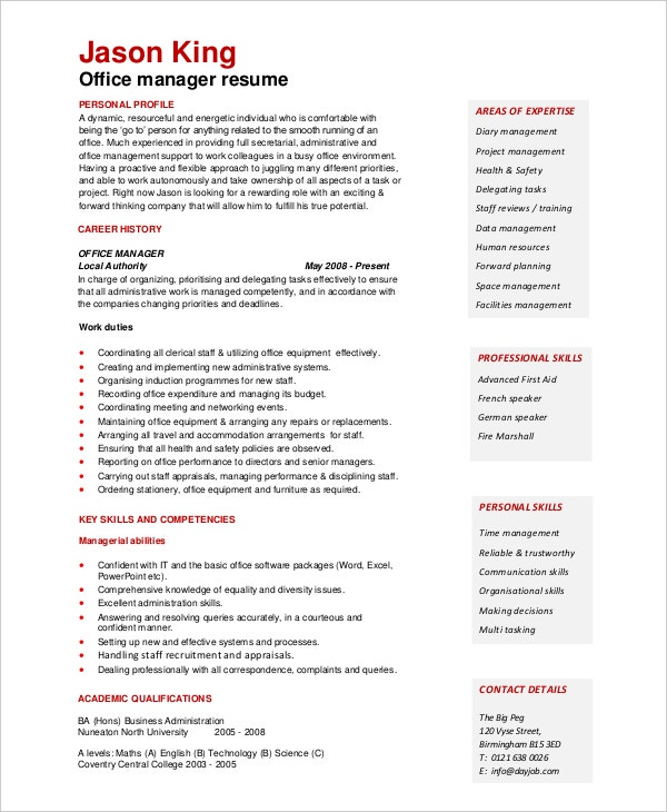 office-manager-resume-sample