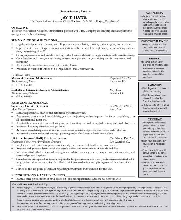 Military resume 8 free word pdf documents download free experienced military resume altavistaventures Gallery