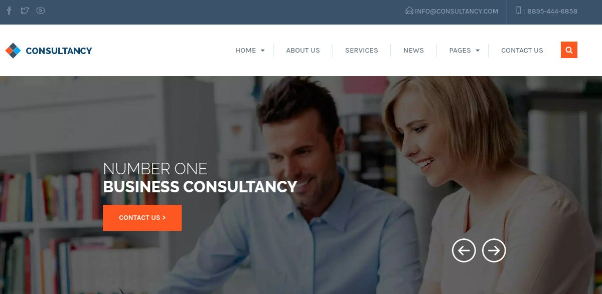 business consulting website template 58