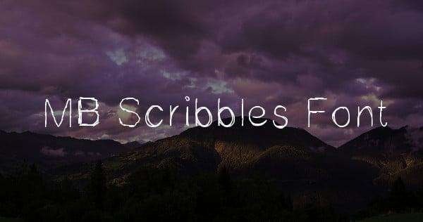 MB Scribbles Font