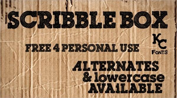 scribble box font1