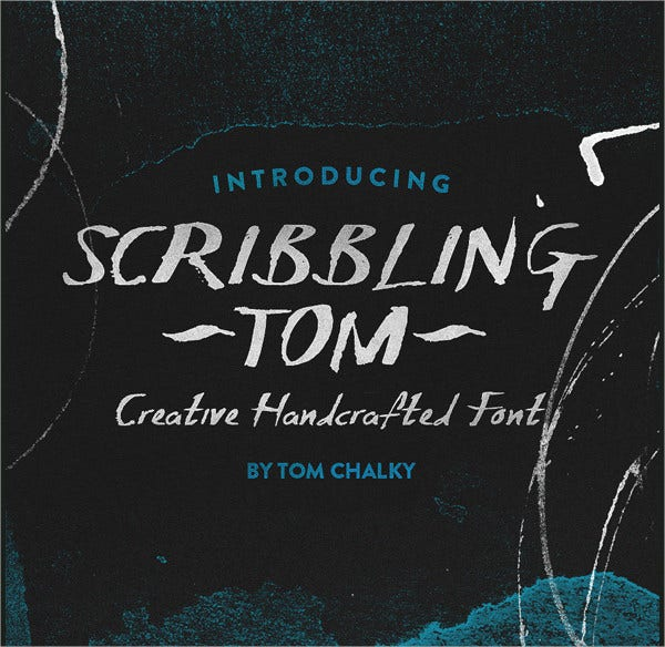 scribbling tom font