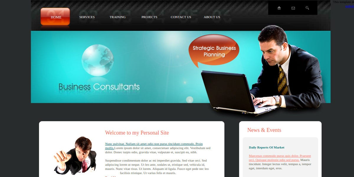 free business consulting website template1