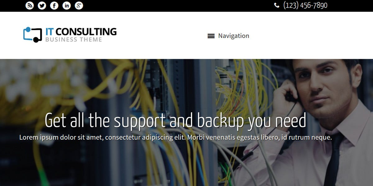 IT Consulting WordPress Website Theme