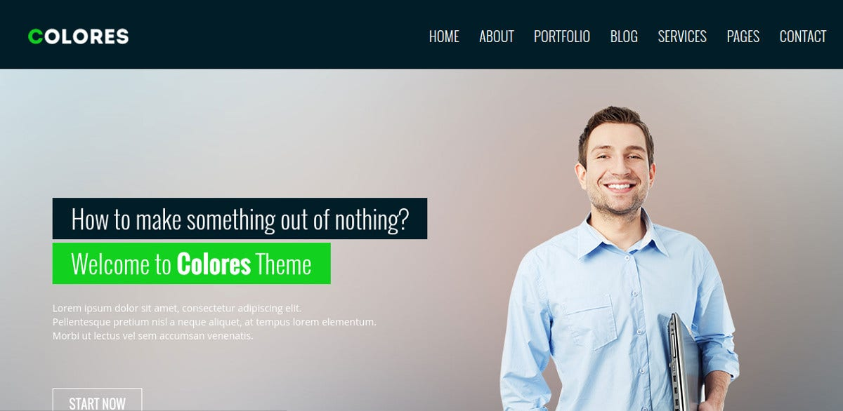 business consultancy website theme