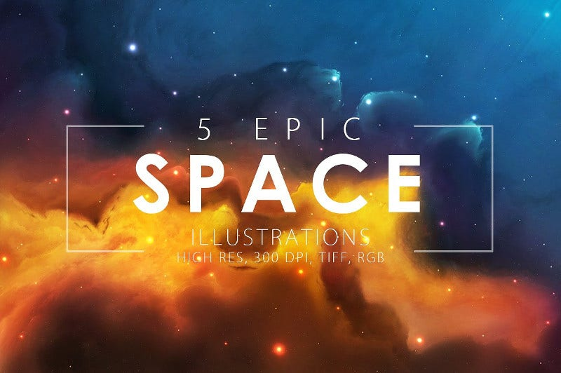 epic space digital art illustrations