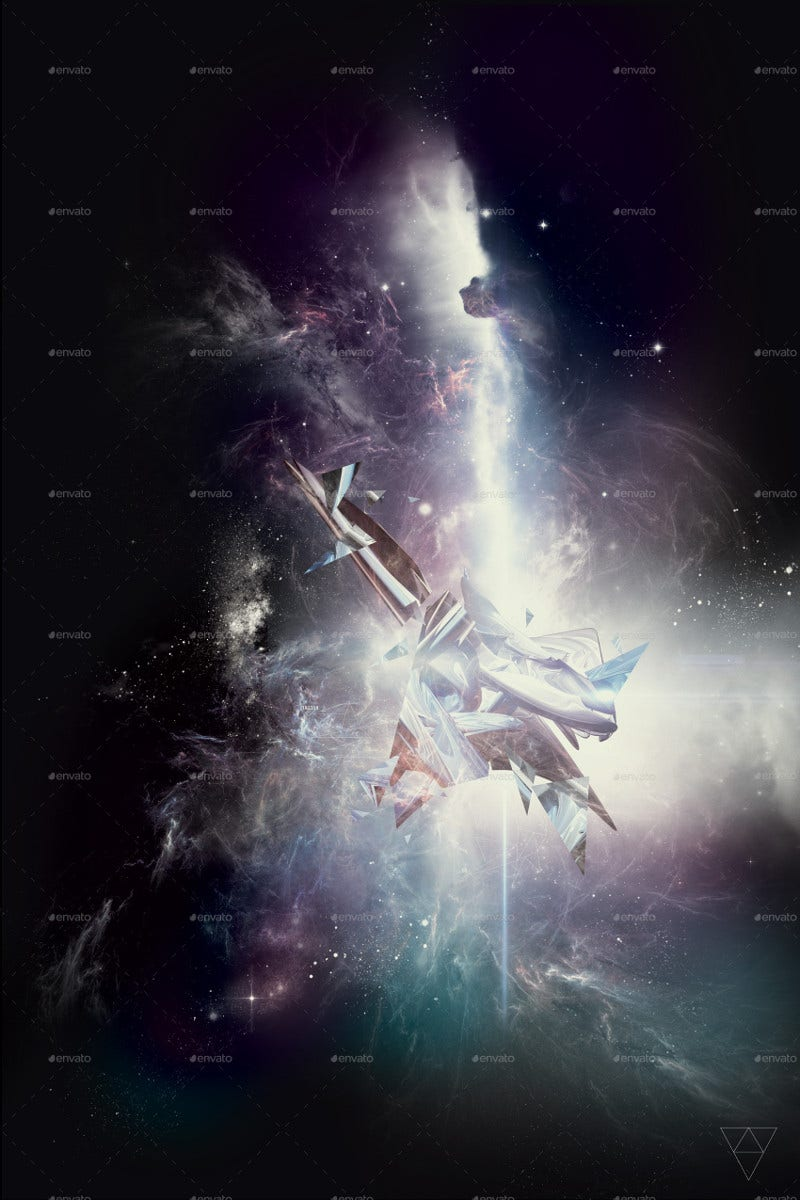 Space Art Series 3D Abstract Poster Art