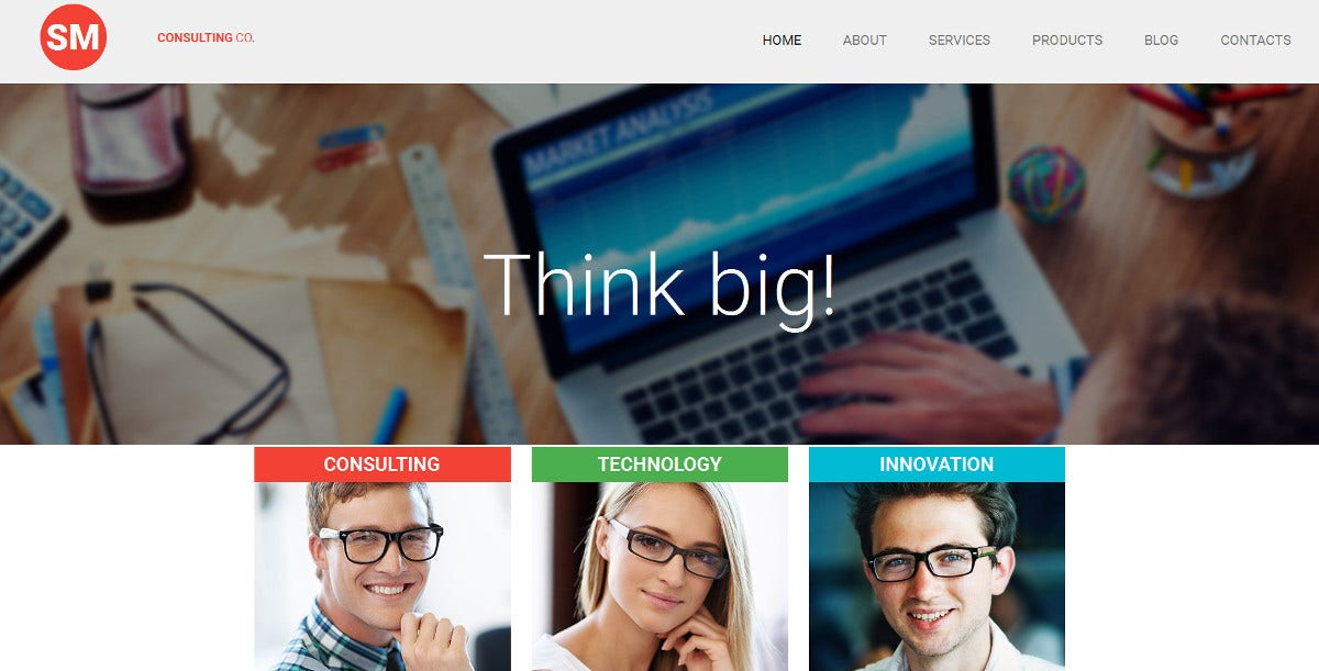 consulting responsive website template 199