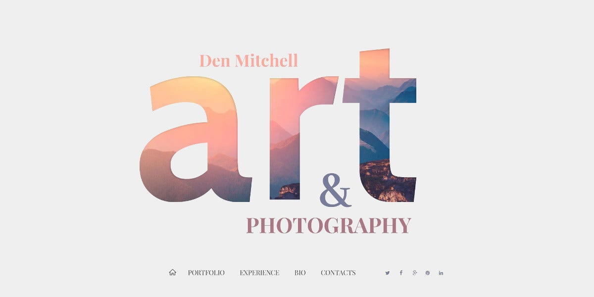 minimalistic photography joomla template 75